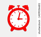 a red alarm clock icon | Shutterstock .eps vector #1409036681