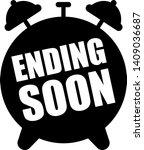 ending soon alarm clock icon  | Shutterstock .eps vector #1409036687