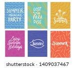 hand lettering summer...   Shutterstock .eps vector #1409037467