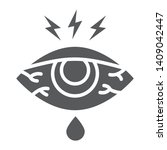 eye sore glyph icon  body and...   Shutterstock .eps vector #1409042447
