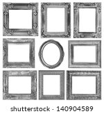 the antique frame on the white... | Shutterstock . vector #140904589