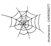 spider on  web icon. vector... | Shutterstock .eps vector #1409058377