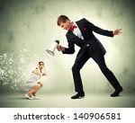 angry businessman with... | Shutterstock . vector #140906581