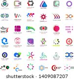 abstract logo icons set  ... | Shutterstock .eps vector #1409087207