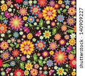 Stock vector vintage seamless floral wallpaper 140909227
