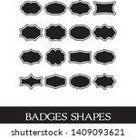 black badges shape  symmetrical ... | Shutterstock .eps vector #1409093621