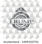 trump grey emblem with cube...