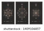 vector set of three dark... | Shutterstock .eps vector #1409106857