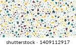 terrazzo seamless repeat vector ... | Shutterstock .eps vector #1409112917