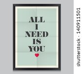 love quote poster. effects... | Shutterstock .eps vector #140911501