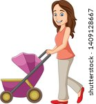 Cartoon Young Mother With A...