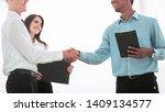 friendly business people... | Shutterstock . vector #1409134577