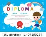 certificate of kids diploma... | Shutterstock .eps vector #1409150234