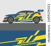 rally car wrap vector designs... | Shutterstock .eps vector #1409159321