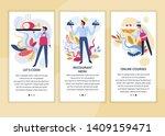 online courses cooking classes... | Shutterstock .eps vector #1409159471