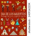 day of the dead festival...   Shutterstock .eps vector #1409162234