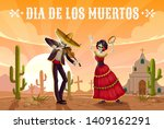 day of the dead mexican holiday ... | Shutterstock .eps vector #1409162291