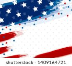 usa or american flag paintbrush ... | Shutterstock .eps vector #1409164721