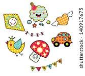 children's vector set. | Shutterstock .eps vector #140917675