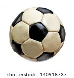 Worn Soccer Ball Isolated On...