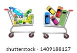 set of car sale promo concept.... | Shutterstock .eps vector #1409188127