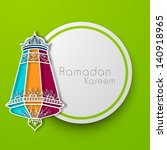 colorful intricate arabic lamp ... | Shutterstock .eps vector #140918965