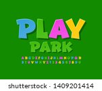 vector colorful logotype play... | Shutterstock .eps vector #1409201414
