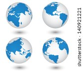 world map and globe detail... | Shutterstock .eps vector #140921221