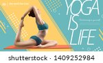 Yoga Is Life Banner Ads With...