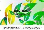 leaf background colorful...   Shutterstock .eps vector #1409273927