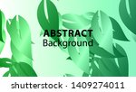 leaf background colorful... | Shutterstock .eps vector #1409274011