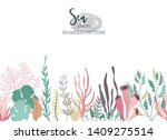 vector seamless pattern with... | Shutterstock .eps vector #1409275514