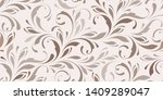floral seamless pattern.... | Shutterstock .eps vector #1409289047