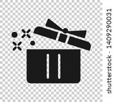 gift box icon in transparent... | Shutterstock .eps vector #1409290031