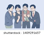 company colleagues are... | Shutterstock .eps vector #1409291657