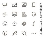 online chating line icon set....