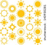 set of vectorized suns | Shutterstock .eps vector #140930281