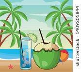 alcoholic drinks beverages... | Shutterstock .eps vector #1409305844