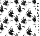 trees  sketch pattern. hand... | Shutterstock . vector #1409311994