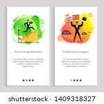 overcoming obstacles and... | Shutterstock .eps vector #1409318327