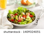 fresh summer salad with shrimp  ... | Shutterstock . vector #1409324051