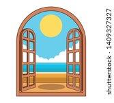 Beach Through The Window Icon...