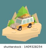 vector isometric off road suv... | Shutterstock .eps vector #1409328254