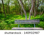 Lonely Weathered Bench At The...