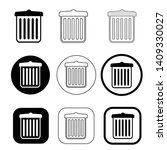 trash can recycle bin icon   Shutterstock .eps vector #1409330027