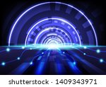 abstract hitech digital... | Shutterstock .eps vector #1409343971