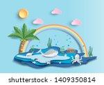 world oceans day concept  many... | Shutterstock .eps vector #1409350814
