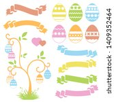 set of colored  sweet easter... | Shutterstock . vector #1409352464
