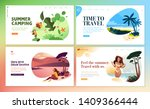 set of flat design web page... | Shutterstock .eps vector #1409366444