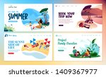 set of flat design web page... | Shutterstock .eps vector #1409367977